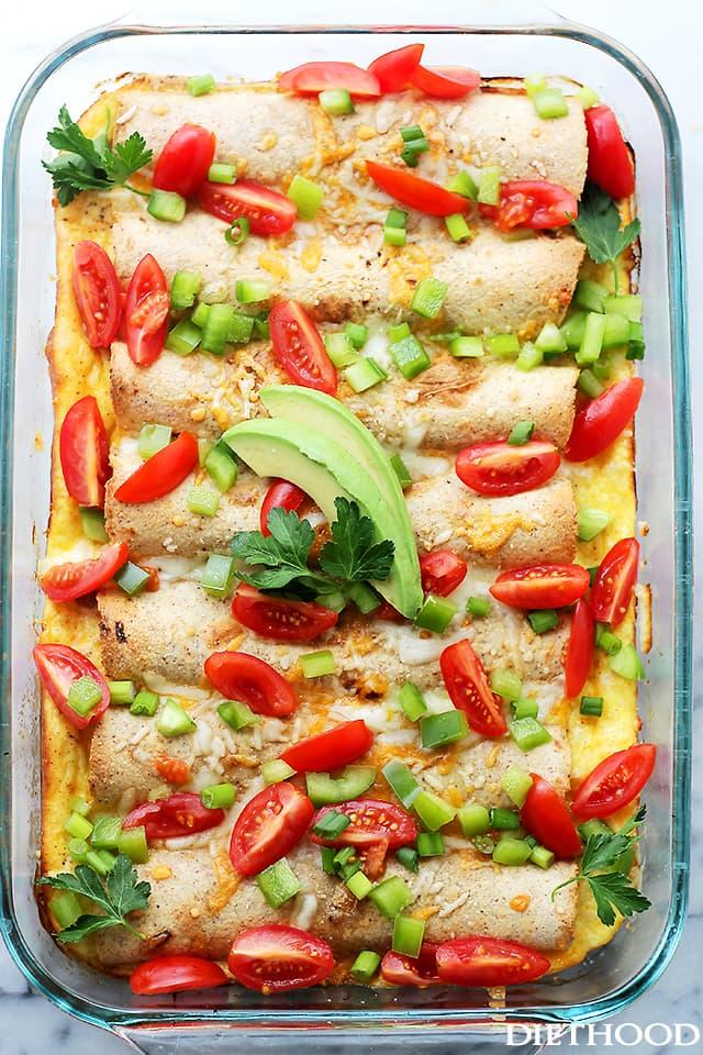 Overnight Breakfast Enchiladas - Diethood.com