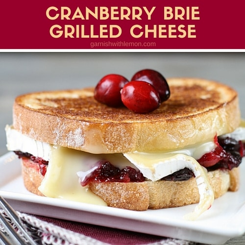 Reinvent your Thanksgiving leftovers with this simple but decadent Cranberry Brie Grilled Cheese Sandwich.