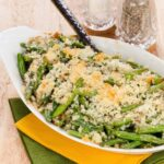Fresh Green Bean Casserole with Cheese