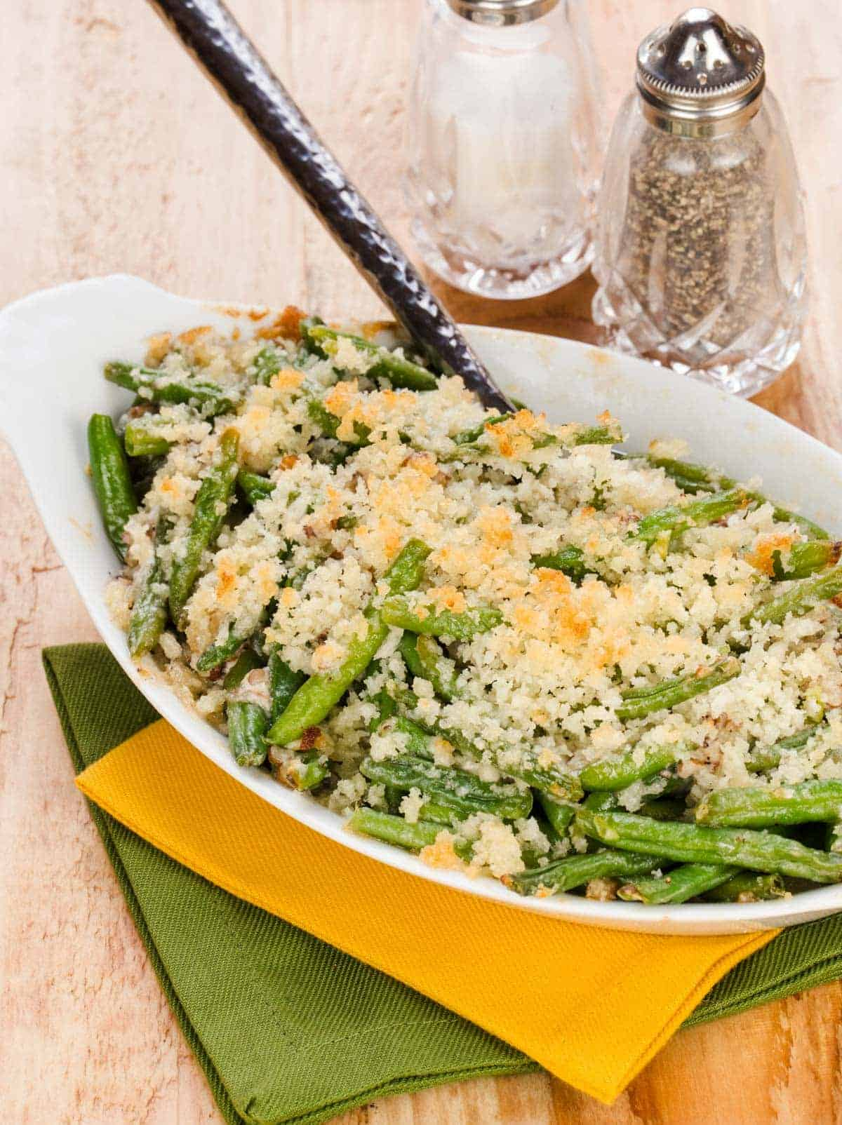 Looking for something new to bring to Thanksgiving? Fresh Green Bean Casserole with Cheese is a new spin on Grandma's classic side dish.