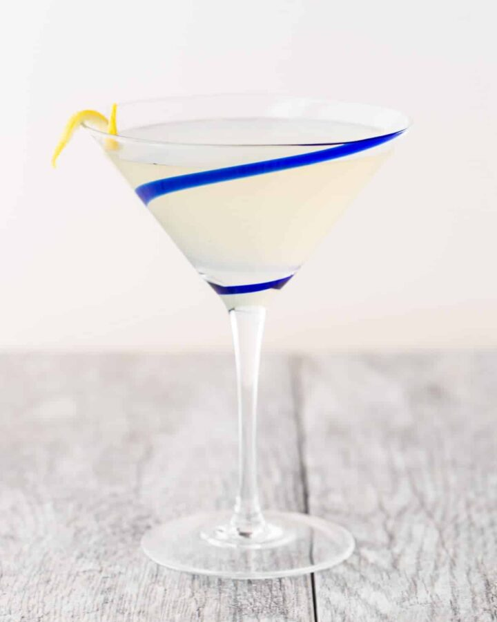 Try something new at happy hour tonight! This Ginger Pear Martini recipe is a delicious combination of ginger liqueur, pear vodka and fresh lemon juice.