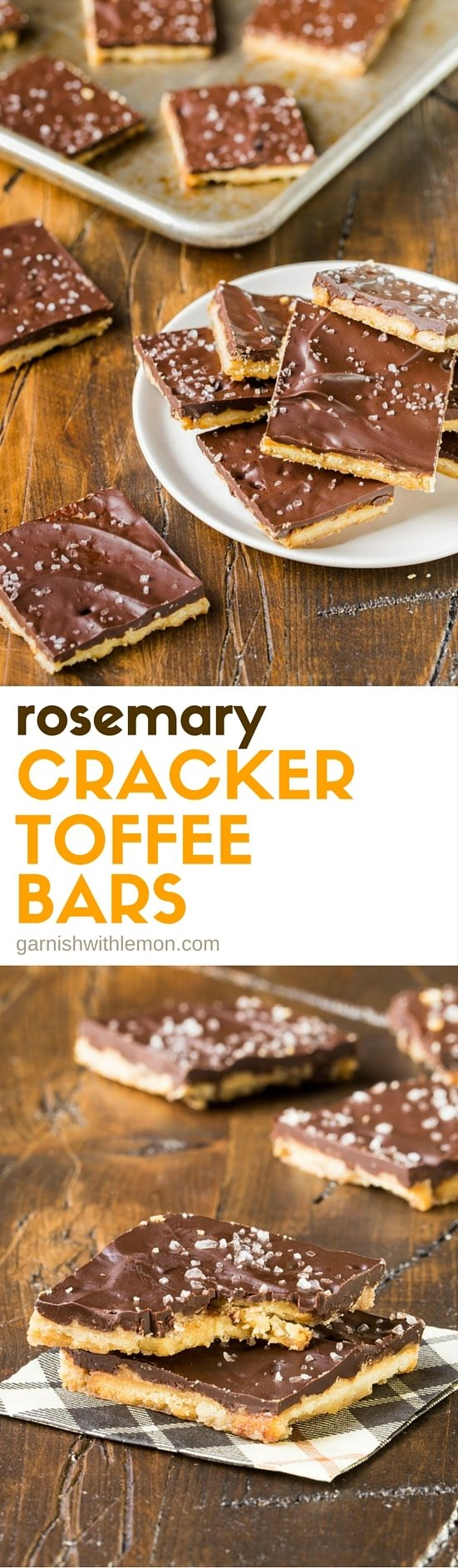 Need a homemade food gift for the holidays? Check our our insanely easy Rosemary Cracker Toffee Bars recipe!