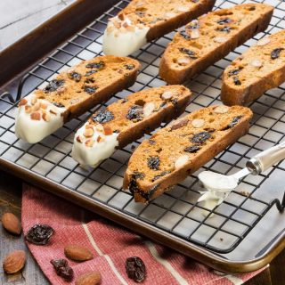White Chocolate, Cherry and Almond Biscotti