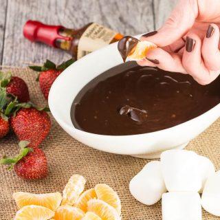 Boozy Slow Cooker Chocolate Fondue