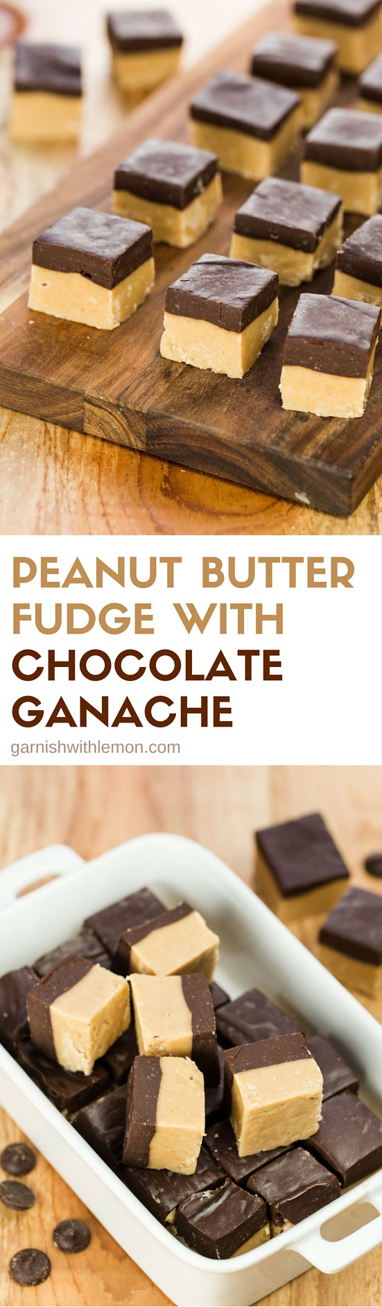 Who can say no to Peanut Butter Fudge, especially when it has a layer of chocolate ganache on top? Certainly not me!