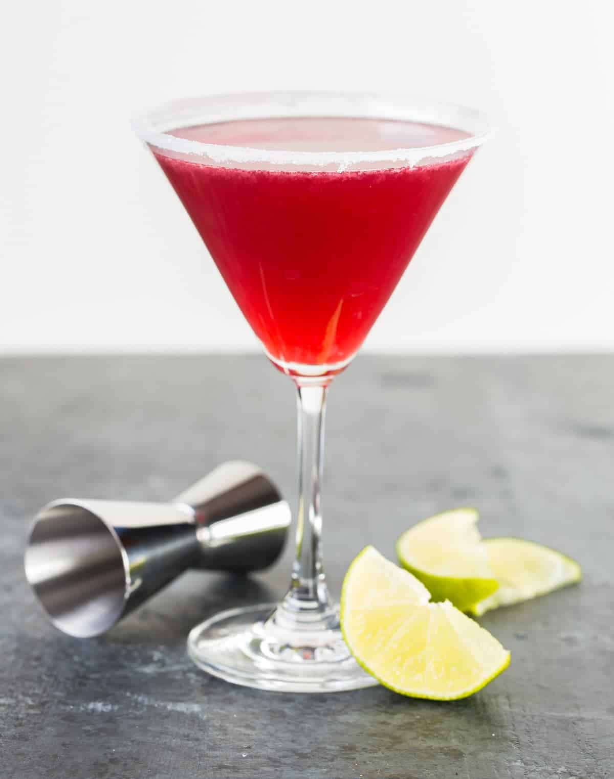 Calling all tequila lovers! Add some new life to your Pomegranate Martini recipe by swapping the vodka for tequila. You can thank me later.