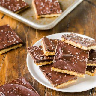 Rosemary Cracker Toffee Bars