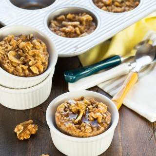 Banana Nut Baked Oatmeal Cups