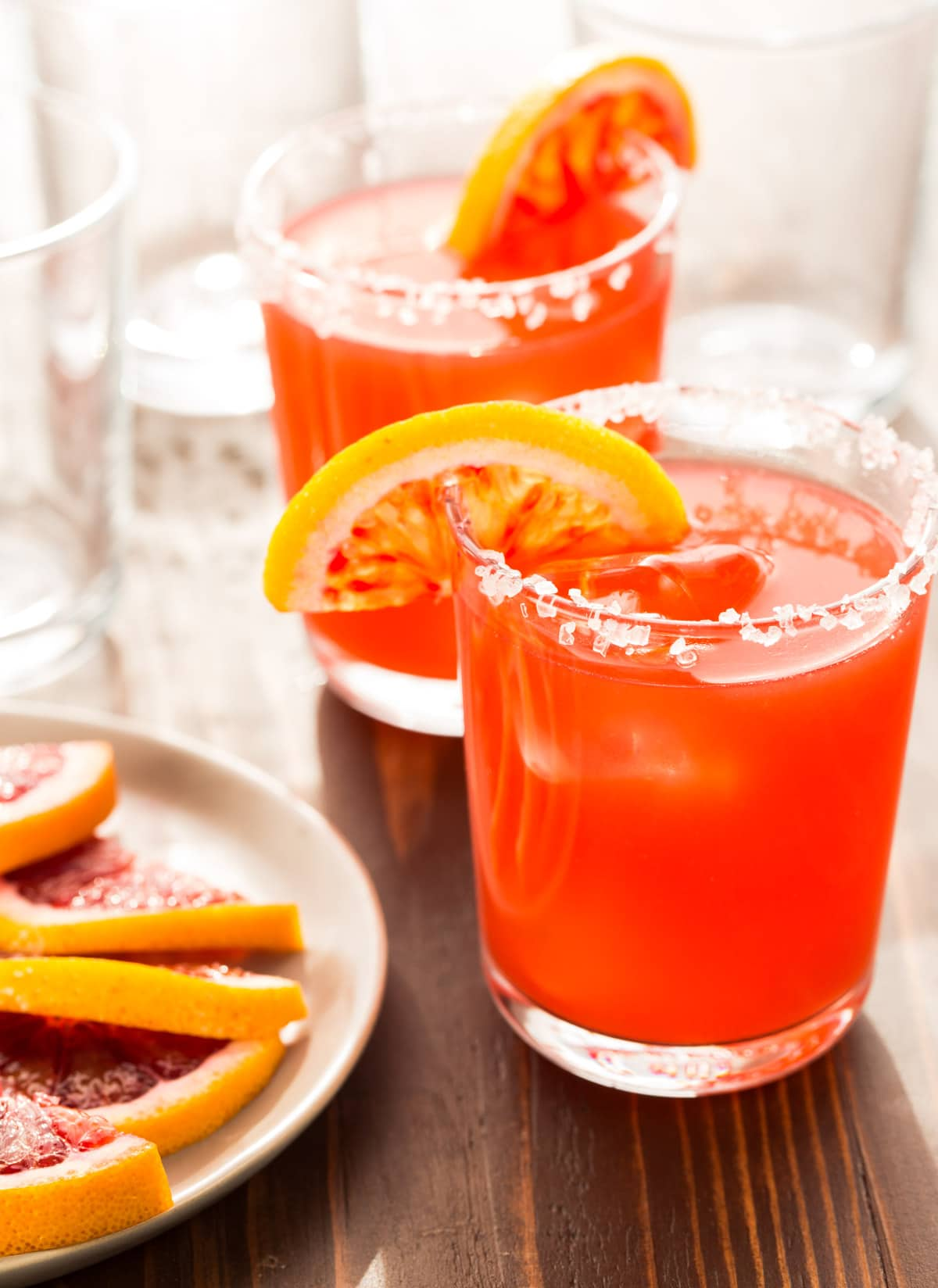 ... make a pitcher of these gorgeous Blood Orange Margaritas for a Crowd
