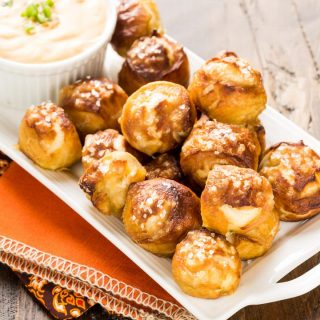 Soft Pretzel Bites are perfect for the Super Bowl and SO easy to make at home! Try it for yourself and see!