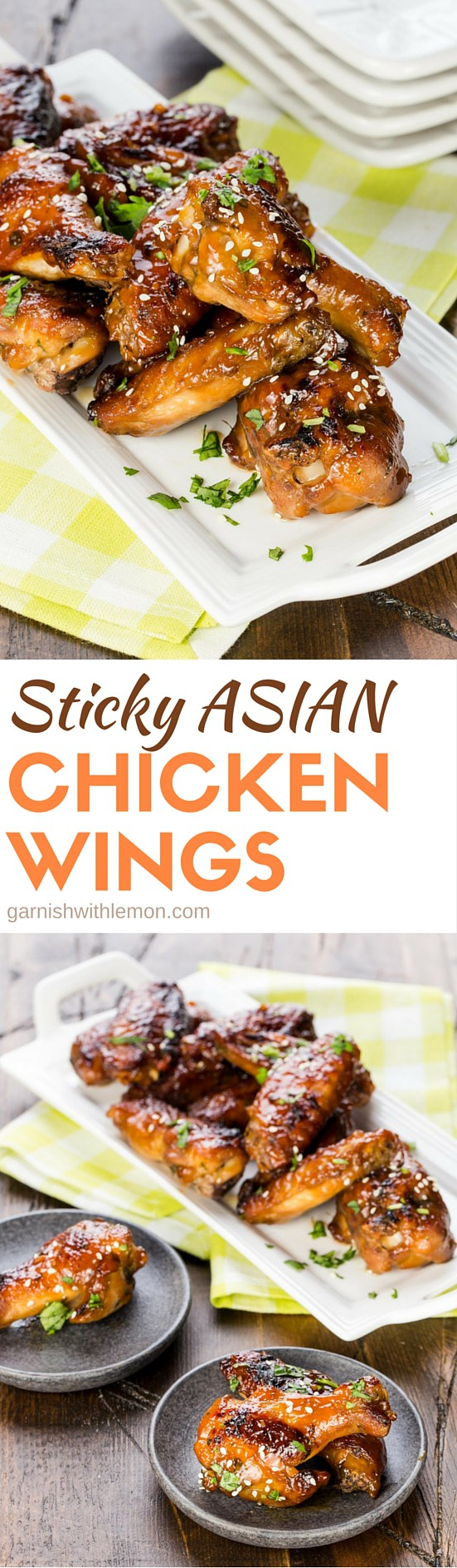 Sticky, sweet and full of flavor, these Sticky Asian Chicken Wings are guaranteed to be a hit with everyone!
