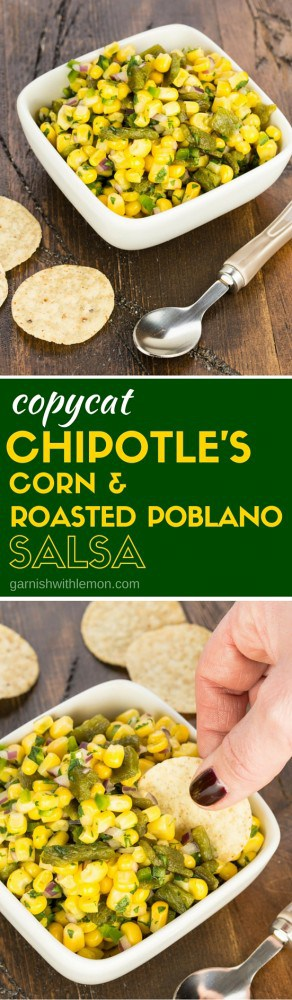 Can't get enough of Chipotle? Don't miss this recipe for a copycat version of Chipotle's Corn Salsa that you can make at home!