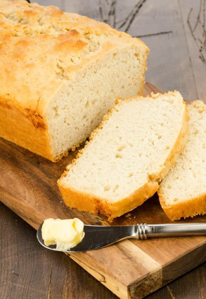 This slightly sweet, slightly tangy Beer Bread recipe is made with only six ingredients & no fancy equipment. Baking bread doesn't get much simpler than this!