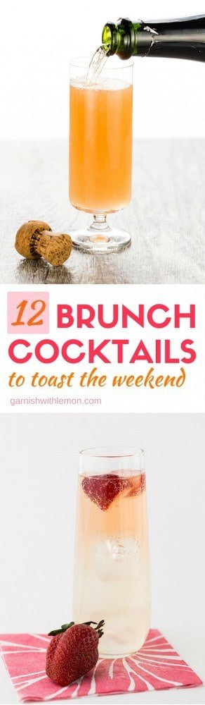 Why should Friday and Saturday nights have all the fun? Go beyond the bellini with our 12 favorite Brunch Cocktails to toast the weekend!
