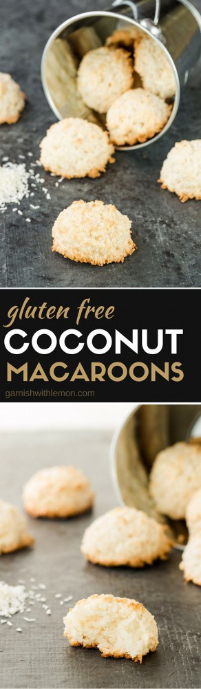 Hands down, the BEST coconut macaroons ever. Plus they are gluten free! The secret ingredient? Unsweetened, desiccated coconut. You'll never make another macaroon recipe again!