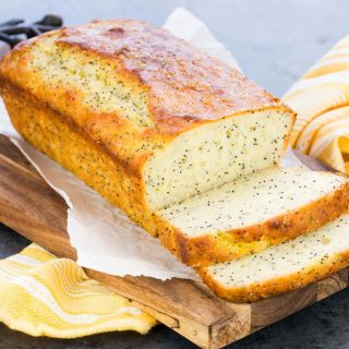 Greek Yogurt Lemon Poppy Seed Bread with Lemon Glaze
