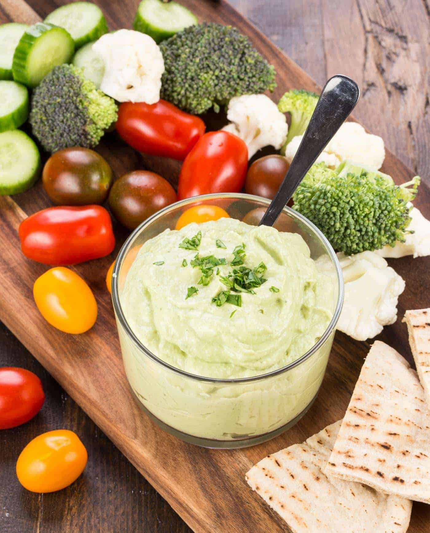 Looking for an alternative to your traditional dill veggie dip? Try this heart-healthy Avocado Cumin Yogurt Dip at your next potluck.