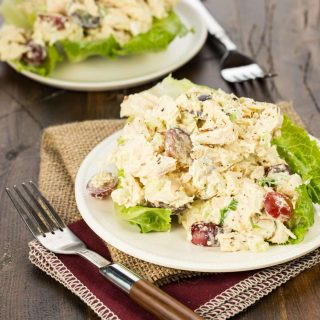 Curried Chicken Salad with Grapes and Slivered Almonds