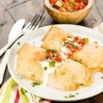 Easy Baked Chicken Chimichangas use rotisserie chicken in the filling making it an obvious weeknight dinner winner.