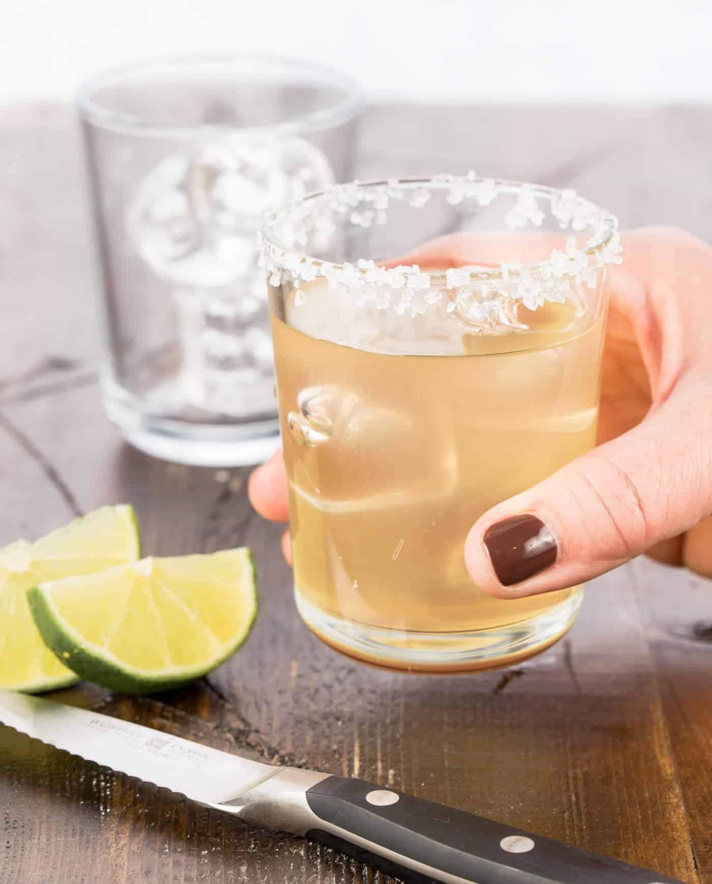 This 3-ingredient Elderflower Margarita makes perfect batch cocktails for your summer parties on the deck. We were so surprised (and thrilled) at how well elderflower liqueur and tequila go together. This easy cocktail is a must try!