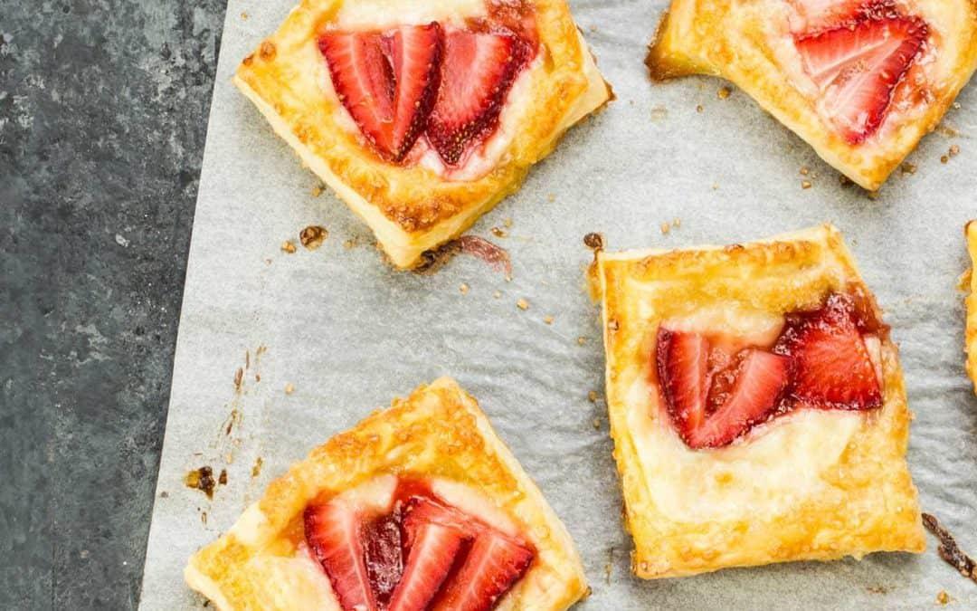 Mini Strawberry Cream Cheese Danish
