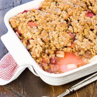 Rhubarb Apple Crisp