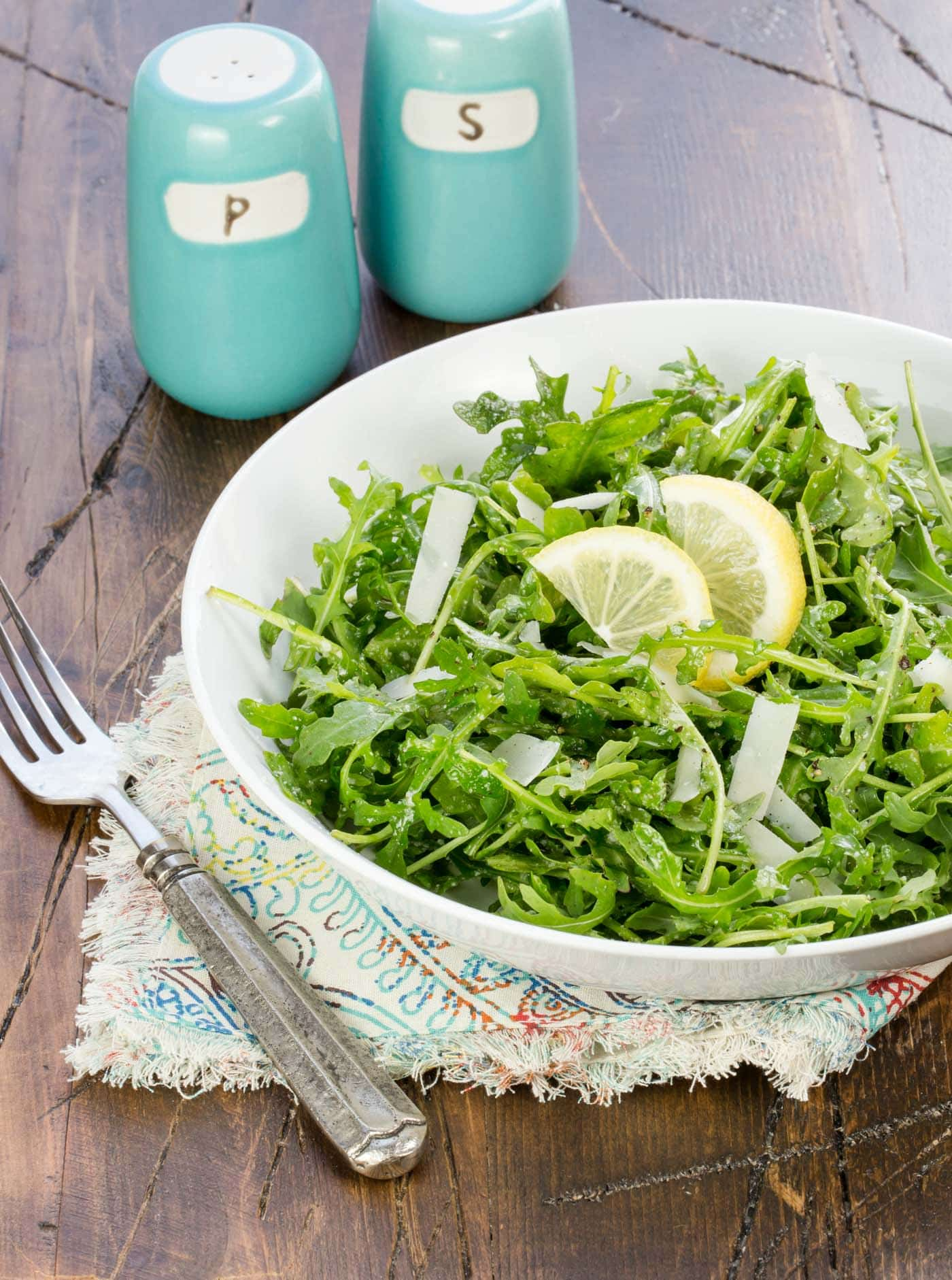 This Arugula Salad with Lemon Vinaigrette always disappears!