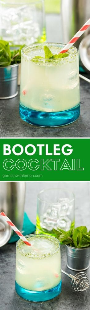 This Bootleg Cocktail is a Minnesota summer favorite! Filled with citrus and mint you can't go wrong with this cocktail. Bonus: It works with gin, vodka or rum!