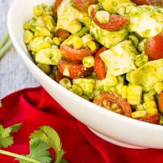 Tomato, Mozzarella and Grilled Corn Salad