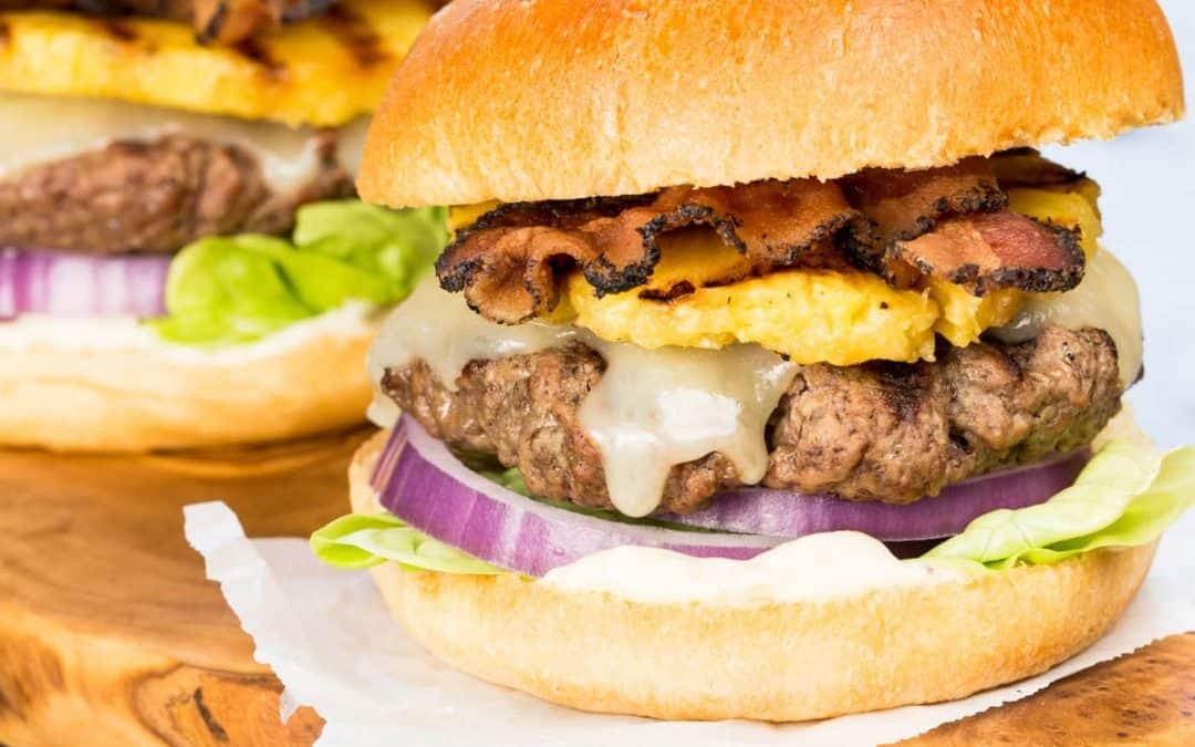 Sweet & Spicy Hawaiian Burgers