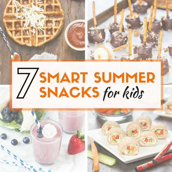 Kids hungry for a snack? Pin this list of 7 Smart Summer Snacks for Kids so you are prepared for those inevitable requests for munchies!