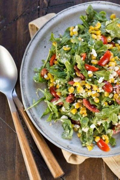Arugula Goat Cheese Corn Salad