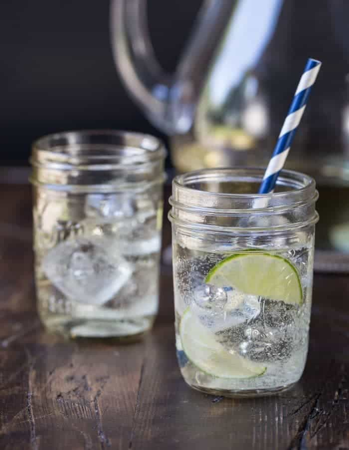 Crisp and refreshing, these Elderflower Wine Cocktails are a great summer drink!