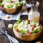 All of our favorites are combined into one satisfying meal in the Grilled Chicken Caesar Pasta Salad recipe!
