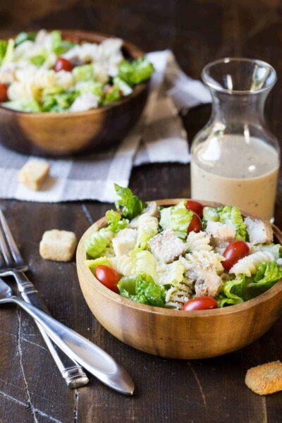 Grilled Chicken Caesar Pasta Salad