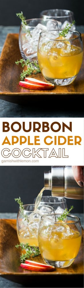 Fall cocktails don't get much tastier than these quick and easy Bourbon Apple Cider Cocktails - perfect for everything from tailgating to Thanksgiving!