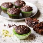 Easy Chocolate Zucchini Muffins are a delicious way to use your bumper crop of summer zucchini!