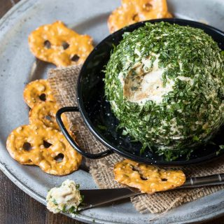 Goat Cheese, Basil and Vidalia Onion Cheese Ball