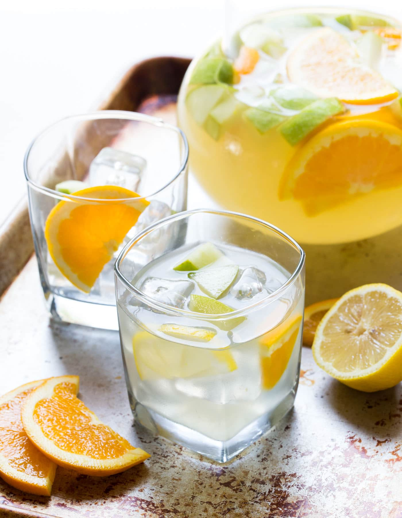 Easy Sangria Lemonade is a great batch cocktail for tailgating!