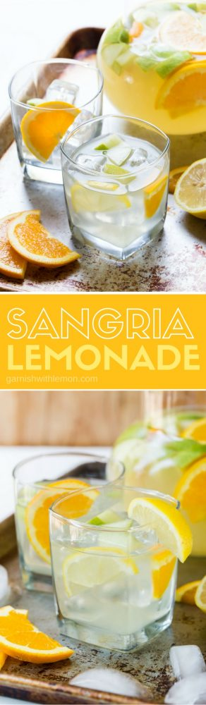 Easy Sangria Lemonade is a a refreshing batch cocktail recipe that is just what your next BBQ, tailgate or happy hour menu needs.