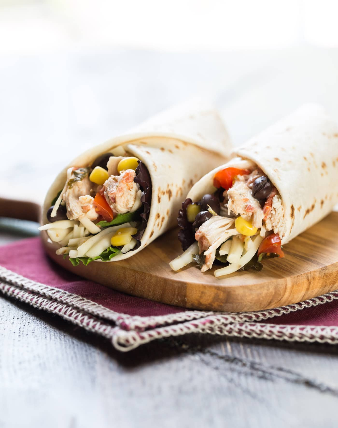 Spice up your normal lunch routine with this easy and delicious Southwest Chicken Wrap!