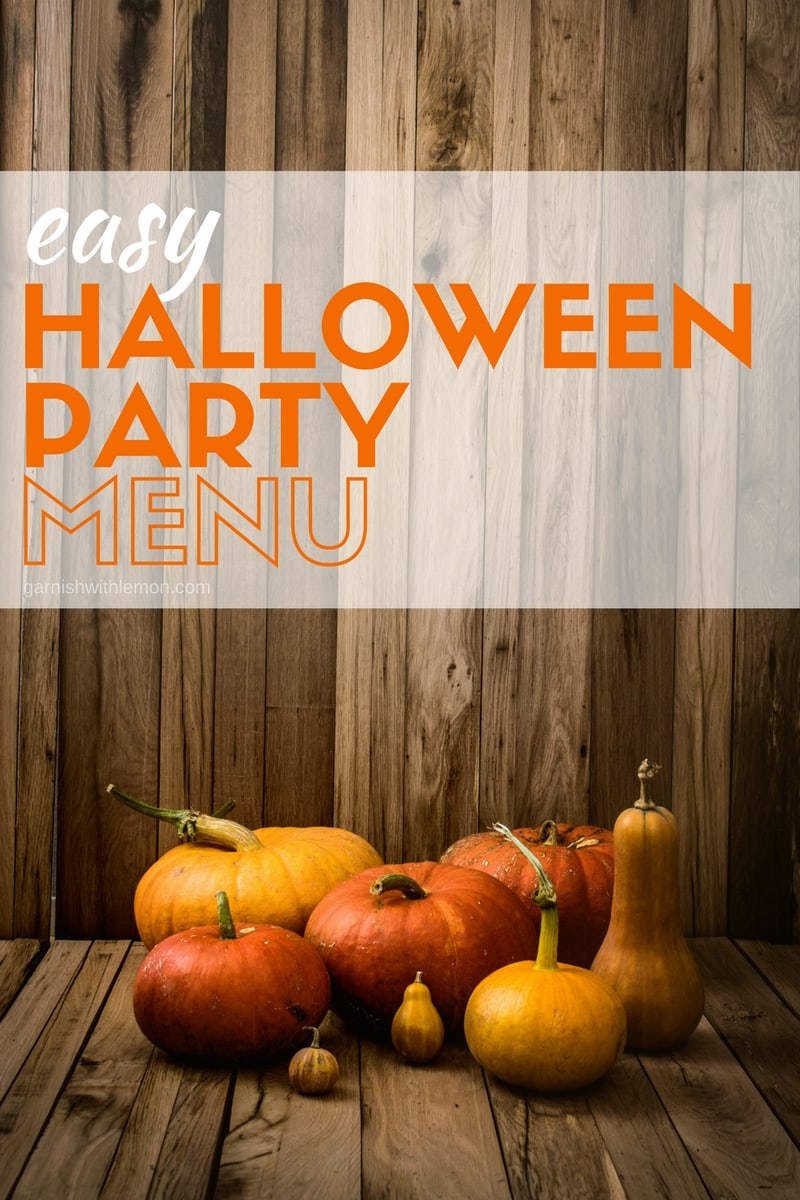 Throwing a casual Halloween bash? Don't miss our make-ahead Easy Halloween Party Menu, complete with cocktail, appetizer, main courses and dessert!
