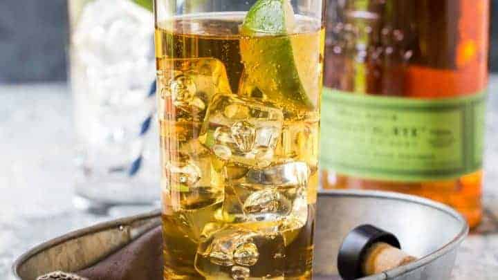Easy Whiskey Ginger Cocktail Just 3 Ingredients Garnish With
