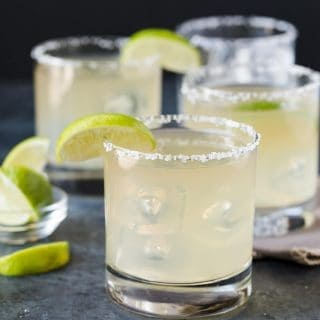 These Golden Margaritas are easy to make as batch cocktails!
