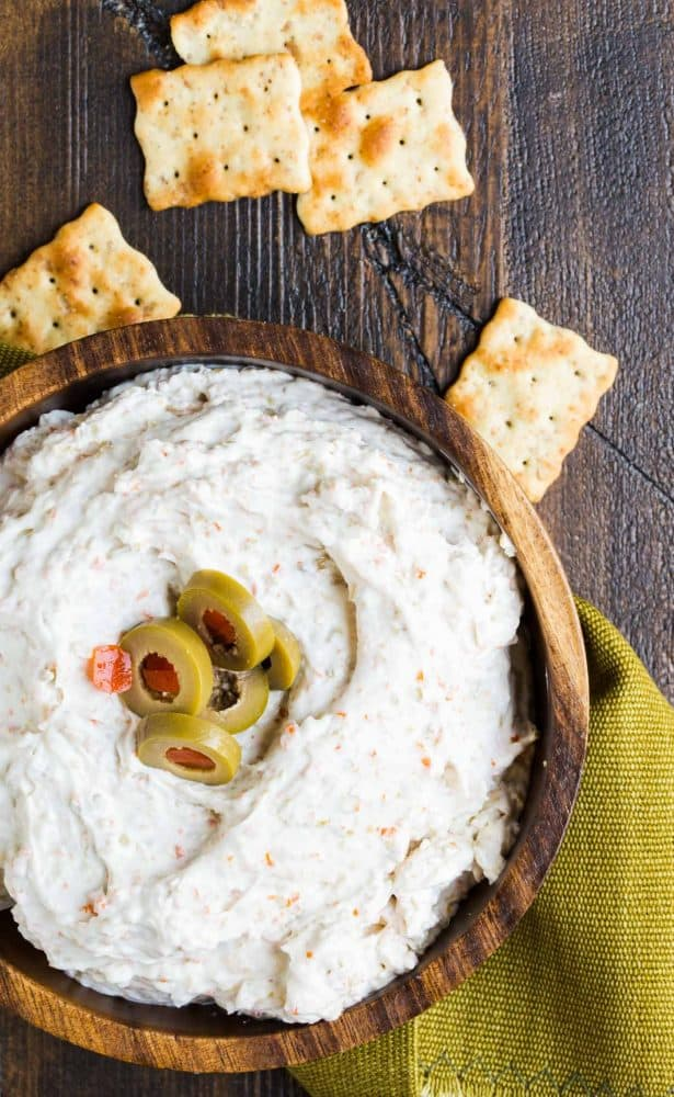 This tangy Green Olive Dip is a welcome addition to any party menu!