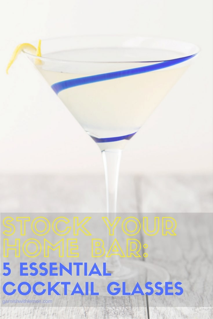 Prepping for your next party? Don't miss our list of the 5 Essential Cocktail Glasses you need to stock your home bar!