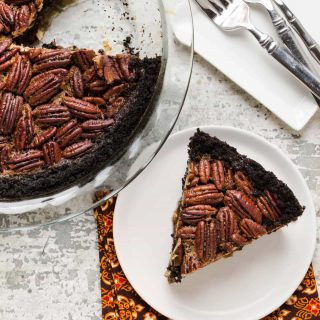 Bourbon Pecan Pie with Chocolate Cookie Crust