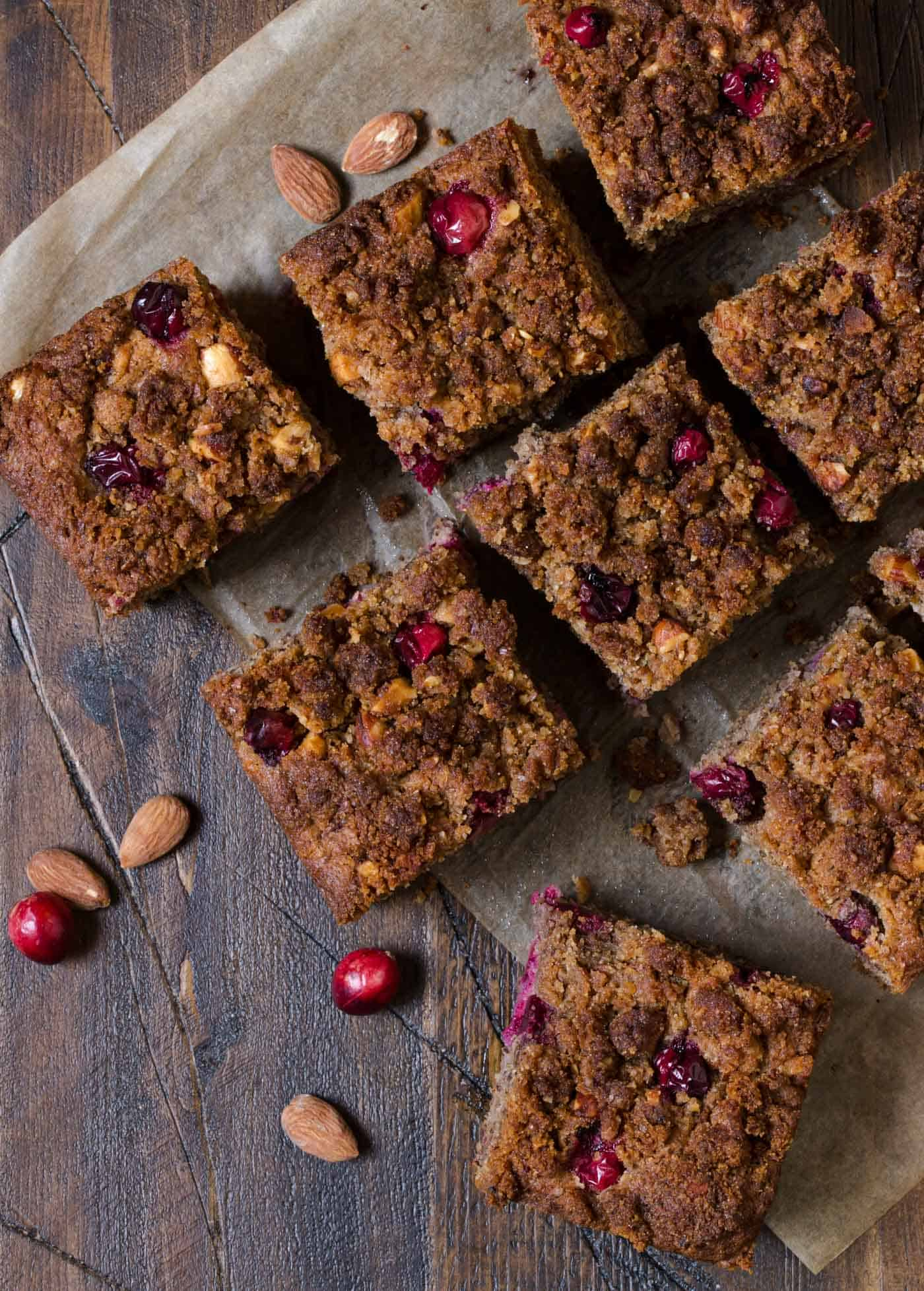 Pin this easy Gluten-Free Cranberry Nut Coffee Cake and add it to your holiday brunch menus. No one will guess it is gluten-free!