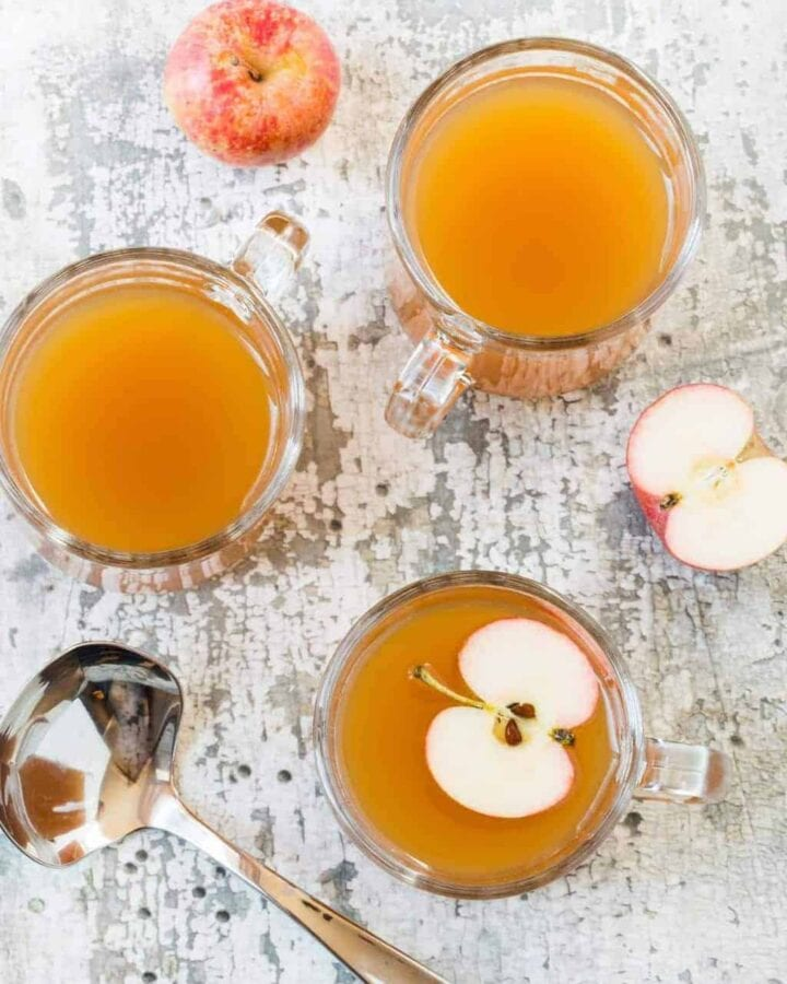 These Hot Ginger Cider Cocktails are a great batch cocktail for parties and are sure to take the chill off those cold fall nights.
