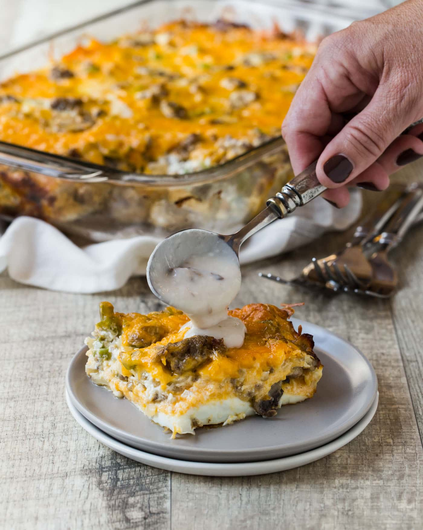 Take the stress out of hosting brunch with this simple, make-ahead recipe for Fireman's Overnight Breakfast Casserole.